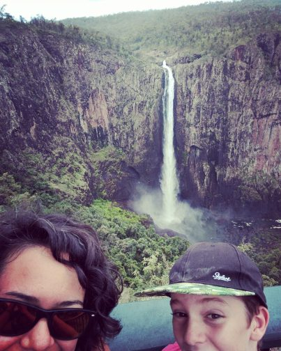The water rushing off Wallaman Falls in north Queensland drops 268m (879ft) to a pool 20m (66ft) deep.