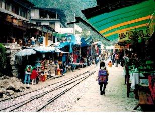 Street scene in Aguas Calientes.