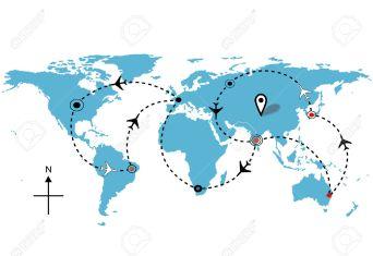 world flight map
