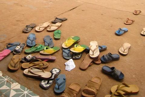 islands shoes at door
