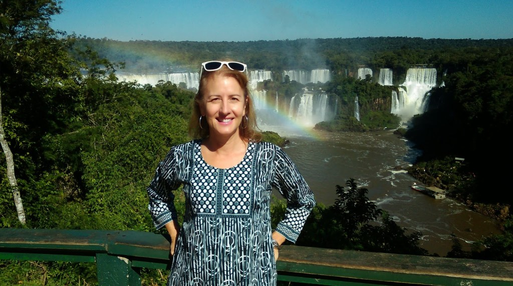 Iguassu Falls: Brazil: Looking at Argentina