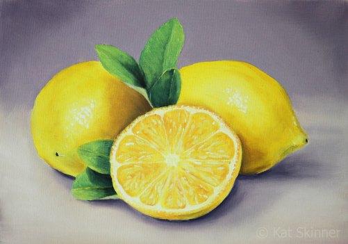 The Lemons Oil Painting by Kat Skinner