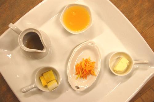 Ingrédients de la crêpe suzette