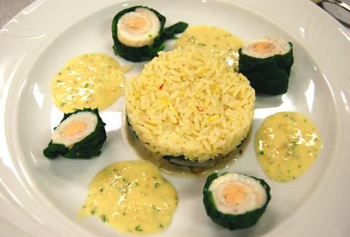 Paupiettes de sole et riz basmati