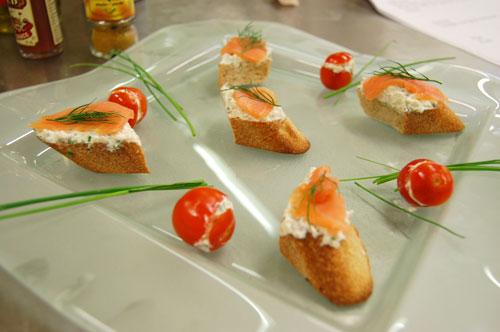 Tomates cerise et fromage de chèvre