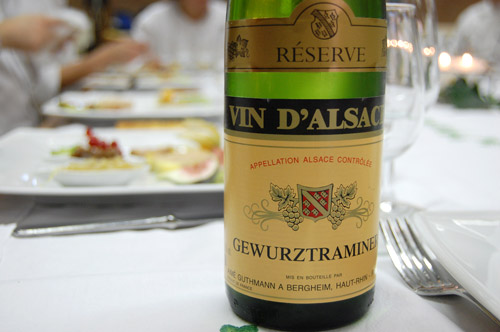 Vin blanc Gewurztraminer