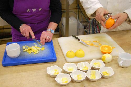 Zestes d'orange et de citron