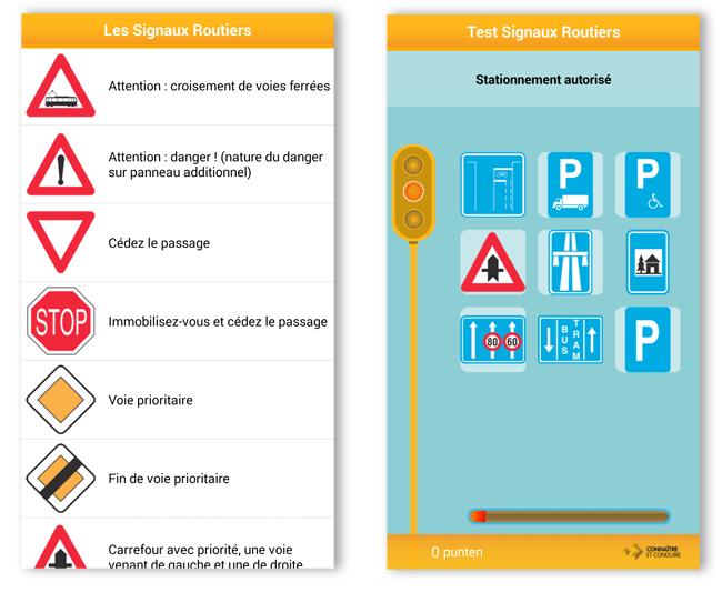 Bien connu Application: signaux routiers   Code de la route belge HQ82
