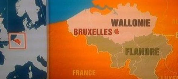 Carte de la Belgique selon TF1