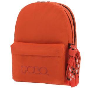 Polo – Original Double Σακίδιο Πλάτης Με Μαντήλι, Πορτοκαλί 2019 9-01-235-14+ Δώρο Διορθωτική Ταινία Edding