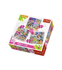 TREFL PUZZLE 20/36/50 Pcs 3 in 1 Nickelodeon multi 34828
