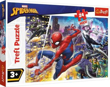 Trefl – Puzzle Παιδικά – 24 Pcs – Spiderman Fearless 14289