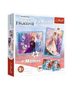 Trefl – Puzzle 2 in 1 Frozen II 30/48 Pcs 90814