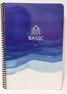 Unipap – Διετές Εβδομαδιαίο Ημερολόγιο – Basic Σπιράλ 2021-2022 17×24 Μπλε 6-19-45-21