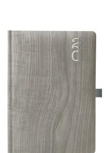 Θεοφύλακτος – Ημερήσιο Ημερολόγιο Woodline Flat 2021 17×24 Γκρι 670E6.445