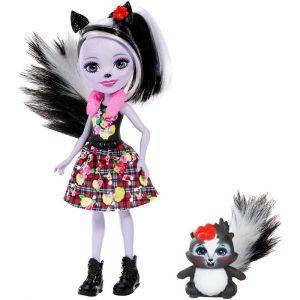 Mattel Enchantimals – Κούκλα Και Ζωάκι Sage Skunk & Caper FXM72 (DVH87)