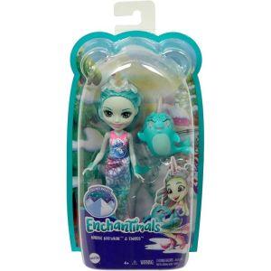 Mattel Enchantimals – Κούκλα Και Ζωάκι Naddie Narwhal & Sword GJX41 (FNH22)