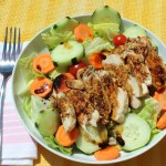 Grilled Chicken Salad with Balsamic Fig Dressing