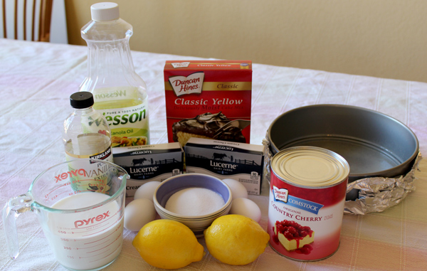 Ingredients for New York Cherry Cheesecake
