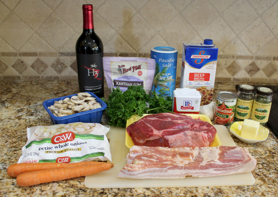 Instant Pot Beef Bourguinon Ingredients