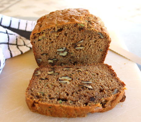Whole Wheat Zucchini Nut Bread