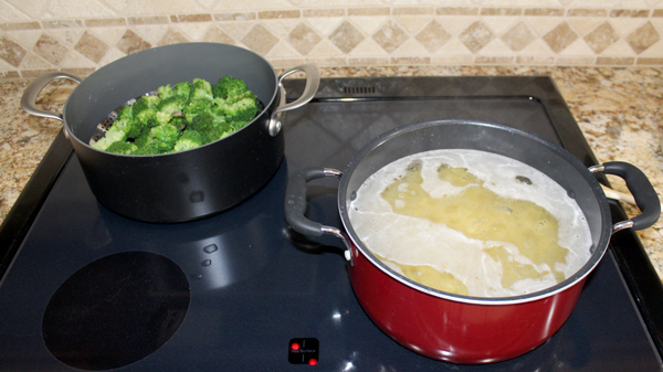Cook Broccoli and Egg Noodles