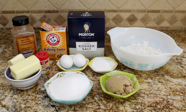 Ingredients for giant snickerdoodles