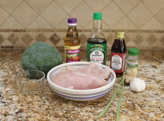 Ingredients for slow cooker sesame garlic chicken