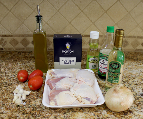 Ingredients for Broiled Chicken Thighs