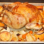 sheet pan roast chicken with root vegetables