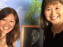 "Met ""Journey of Heroes"" Hawaii manga author and filmmaker Stacey Hayashi by chance at Irwin's museum!!"