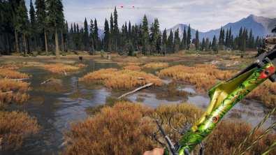 Oui, j'ai essayé de pêcher avec un arc.