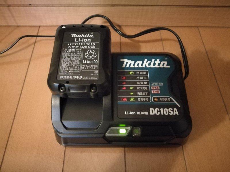 「CL107FDSHW」のバッテリーと充電器の画像