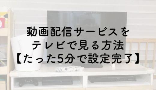 動画配信サービスをテレビで見る方法【たった5分で設定完了】