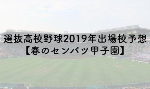 選抜高校野球2019年出場校予想!【春のセンバツ甲子園】のアイキャッチ画像