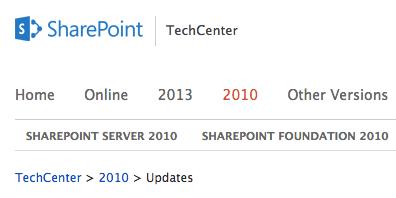 sharepoint-service-packs