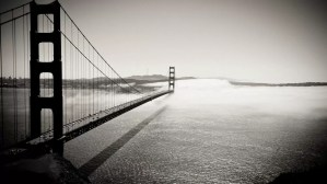 Kattelo Slide Show - San Francisco Golden Gate Bridge in Cloud B&W