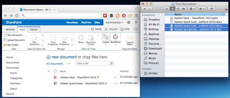 Screen Shot: SharePoint 2013 Upload Multiple Files