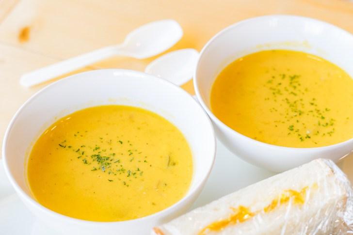 本日のスープはカボチャスープ