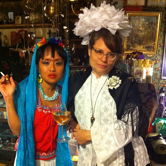 Amy Tom as Frida Kahlo with Anne Banner of Salmagundi West