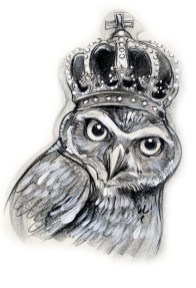 OWL WITH CROWN