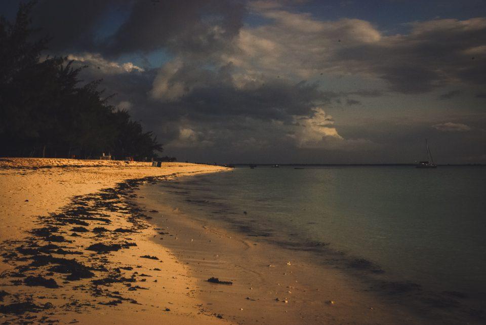 kendwa beach at sunset