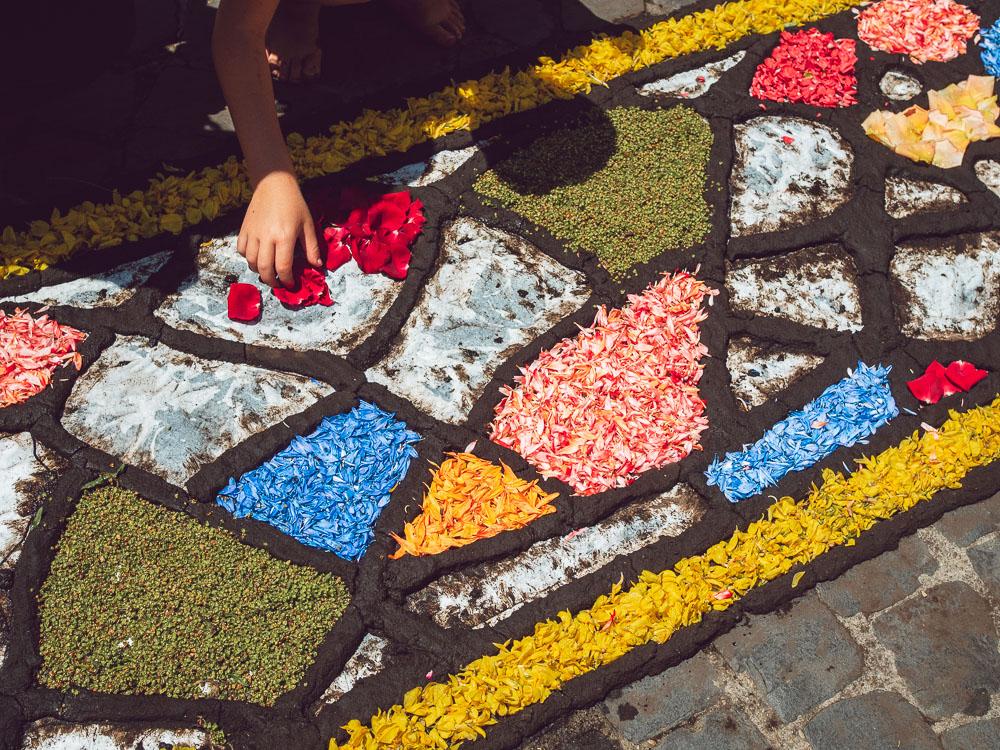 posing petals for the infiorata in bolsena