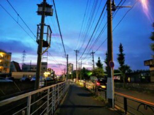 夕暮れの柴又街道