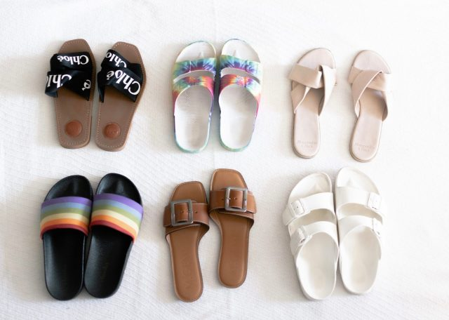 Chloé woody sandals, Summer Slide Sandals, Summer Slide Sandals, Birkenstock Sandals, KatWalkSF, CHloe Woody Sandals, Tie-Dye Slides, Summer Sandals, Kat Ensign