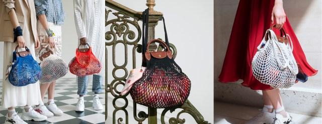 Longchamp Le Pliage Filet Knit Bag