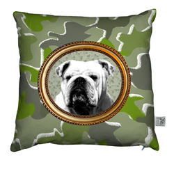 Coussin Bulldog Camouflage