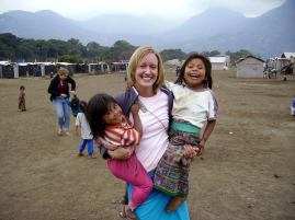 Visiting families in Guatemala