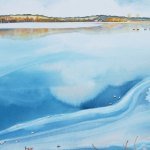 Watercolour Painting: Port Meadow Ice commission