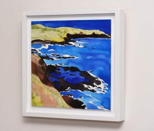 Australian Ultramarine Storm Bay Ink and Watercolour side view